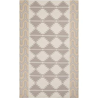 Jewel Tone II Ivory 5 ft. x 8 ft. Indoor Area Rug