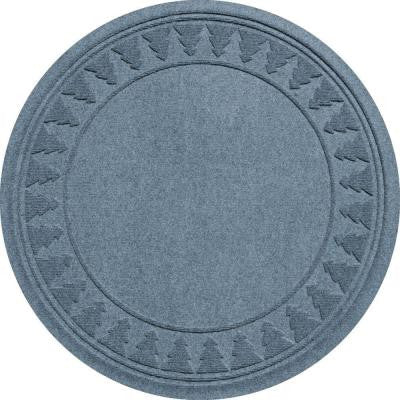 Aqua Shield Bluestone 35 in. Round Pine Trees Under the Tree Mat