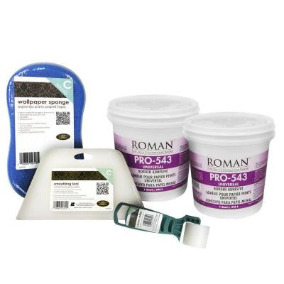 2-qt. Universal Wallpaper Adhesive Kit for Focal Walls