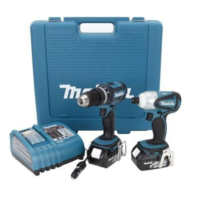 18-Volt LXT Lithium-Ion Cordless Combo Kit (2-Tool) with Rapid Automotive Charger