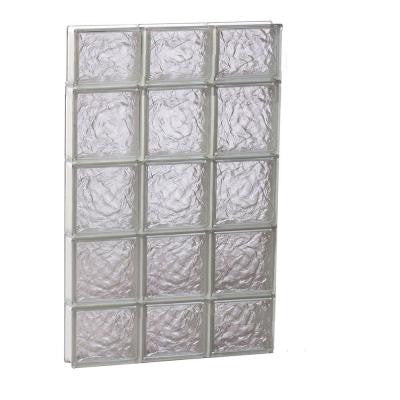 23.25 in. x 34.75 in. x 3.125 in. Non-Vented Ice Pattern Glass Block Window