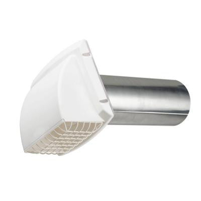 Wide Mouth Dryer Vent Hood in White