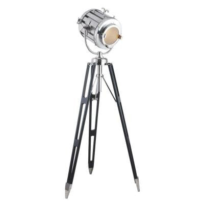 Ansel Tripod 71 in. Chrome and Black Floor Lamp