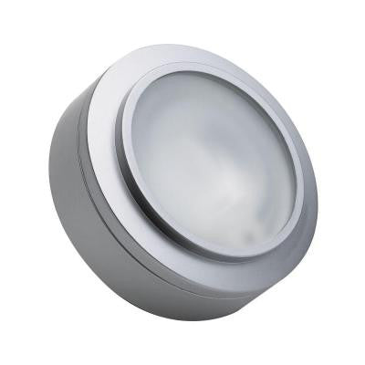 Zeepuk 1-Lamp Xenon Stainless Steel Puck Light with Frosted Glass