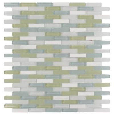 Cleveland Berkeley Mini Brick 10 in. x 11 in. x 8 mm Mixed Materials Mosaic Floor and Wall Tile