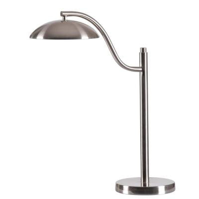 Crescent 21.5 in. Brushed Steel Desk Lamp