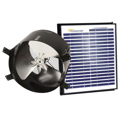 All Purpose Ventilator 15 Watt Black Solar Powered Gable Fan