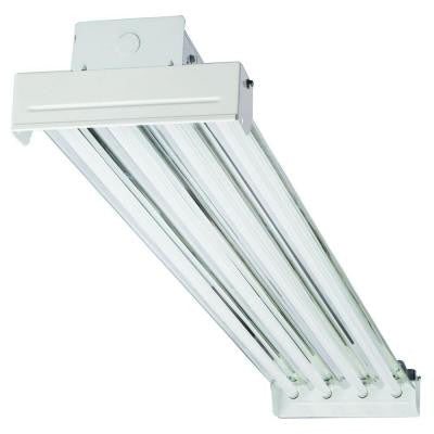 4-Light T5 White High Output Fluorescent High Bay
