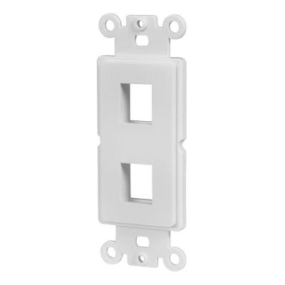 2-Port Decor Data Wall Plate Insert - White
