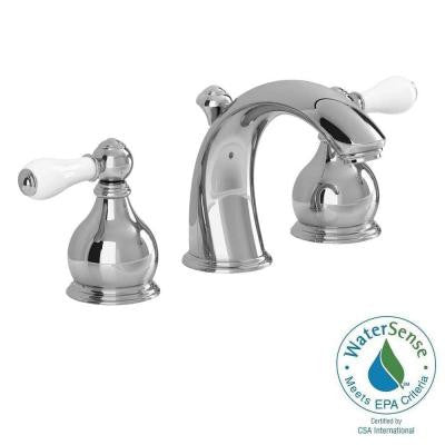 Williamsburg 8 in. Widespread 2-Handle Mid Arc Bathroom Faucet in Polished Chrome