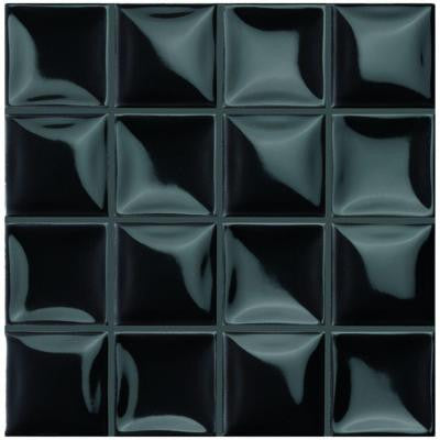 Duna Carbo Black 7-7/8 in. x 7-7/8 in. Ceramic Wall Tile