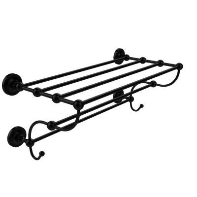 Prestige Regal Collection 24 in. W Train Rack Towel Shelf in Matte Black