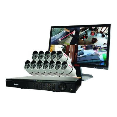 T-HD 16-Channel 2TB DVR Surveillance System with 12 T-HD 1080p Bullet Cameras