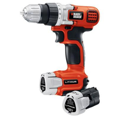 12-Volt Lithium-Ion 3/8 in. Cordless Drill/Driver with 2-Battery