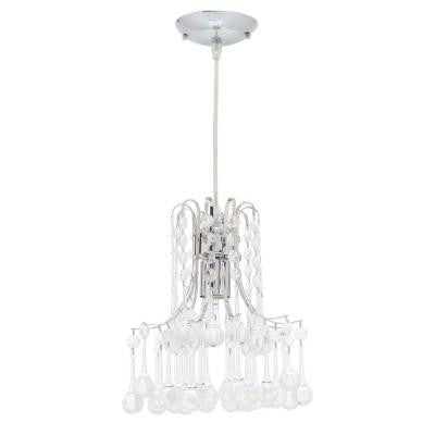 Inverleigh 1-Light Chrome Ceiling Mount Mini Pendant