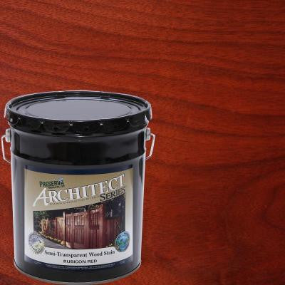 5 gal. Rubicon Red Semi-Transparent Oil-Based Wood Stain