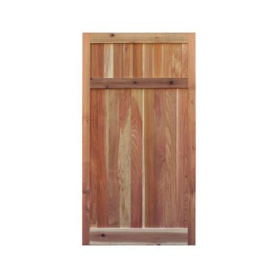 3 ft. W x 6 ft. H Western Red Cedar Flat Top Solid Lattice Fence Gate