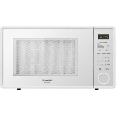 1.1 cu. ft. Countertop Microwave in Smooth White