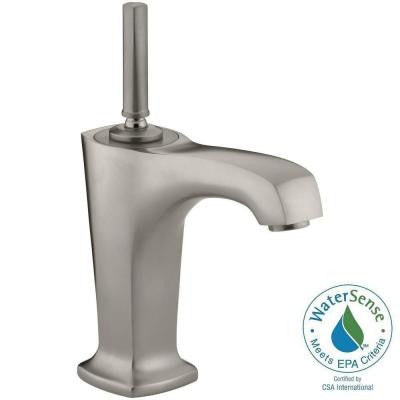 Margaux Single Hole Single Handle Low-Arc Bathroom Faucet in Vibrant Brushed Nickel