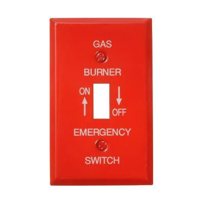 Steel 1 Toggle Small Wall Plate - Red