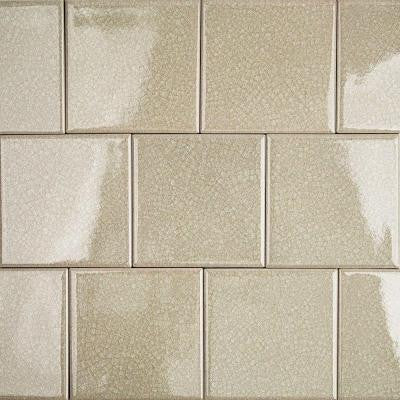 Roman Selection Raw Ginger 4 in. x 4 in. x 8 mm Glass Mosaic Tile