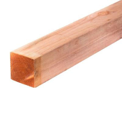 3-1/2 in. x 3-1/2 in. x 8 ft. Construction Common Redwood Lumber (4-Pack)