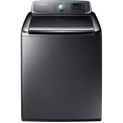 5.6 cu. ft. High Efficiency Top Load Washer with Steam in Platinum, ENERGY STAR