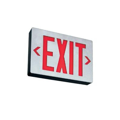 Double Stencil Face Die-Cast Aluminum LED Emergency Exit Sign Red