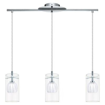Ricabo 3-Light Chrome Island Pendant