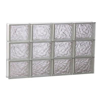 31 in. x 17.25 in. x 3.125 in. Non-Vented Ice Pattern Glass Block Window