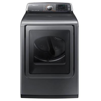 7.4 cu. ft. Electric Dryer with Steam in Platinum, ENERGY STAR