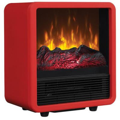 1,500-Watt 400 sq. ft. Cube Electric Stove - Red