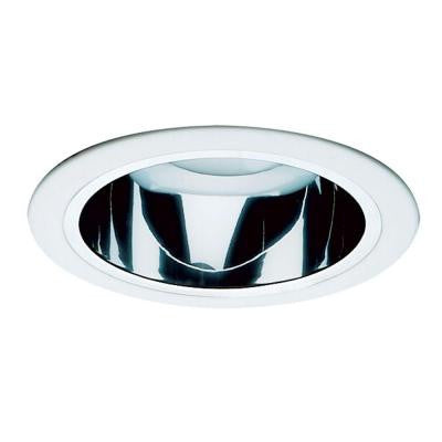 NICOR 6 in. Clear Reflector Recessed Cone with White Trim