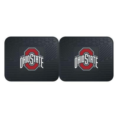 NCAA Ohio State University Black Heavy Duty 2-Piece 14 in. x 17 in. Vinyl Utility Mat