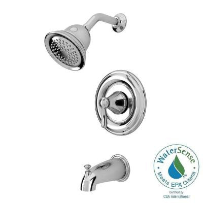Marquette 1-Handle 1-Spray Tub and Shower Faucet in Polished Chrome