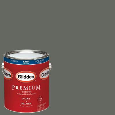 1-gal. #HDGCN13U Deepest Valley Green Satin Latex Interior Paint with Primer