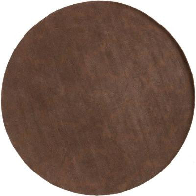 Jeannette Brown 8 ft. Round Area Rug
