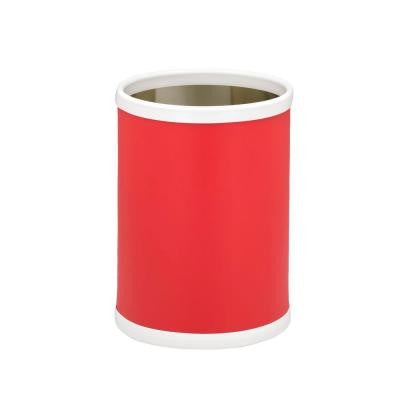 10 in. Red Round Trash Can