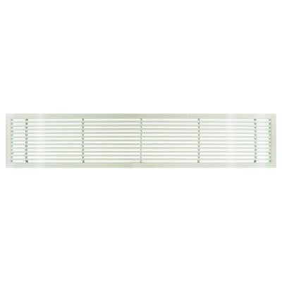AG20 Series 4 in. x 48 in. Solid Aluminum Fixed Bar Supply/Return Air Vent Grille, White-Gloss