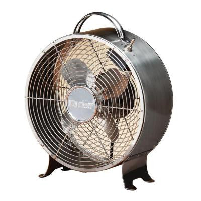 10 in. Retro Stainless Table Fan