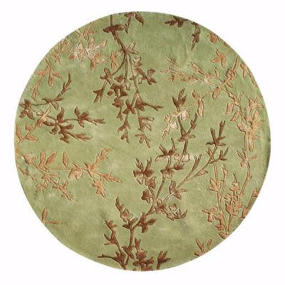 Chaparral Green 7 ft. 9 in. Round Area Rug