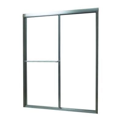 Tides 52 in. to 56 in. x 70 in. Framed Sliding Bypass Shower Door in Oil Rubbed Bronze and Obscure Glass
