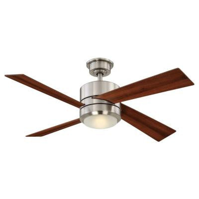 Healy 48 in. LED Brushed Nickel Ceiling Fan