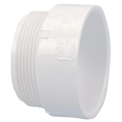 4 in. PVC DWV Hub x MIPT Male Adapter