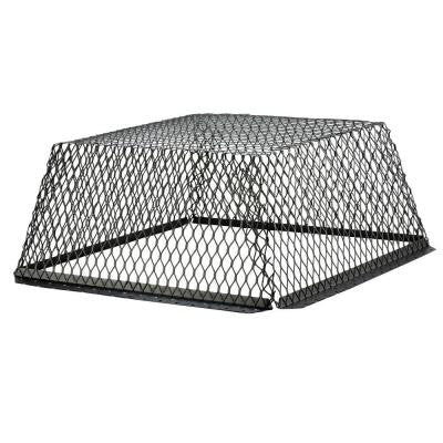 VentGuard 25 in. x 25 in. x 12 in. Roof Wildlife Exclusion Screen in Galvanized Black