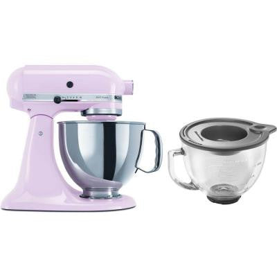 Artisan Series 5 Qt. Stand Mixer in Pink with Additional Glass Bowl