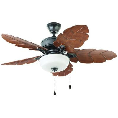 Palm Cove 44 in. Natural Iron Outdoor Ceiling Fan