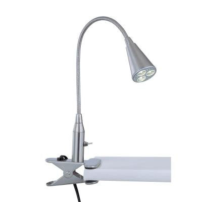 1-Light Clip On Lamp Polished Steel Finish