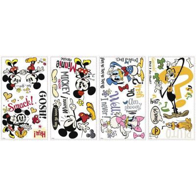5 in. x 11.5 in. Mickey and Friends Mickey Shorts Peel and Stick Wall Decals