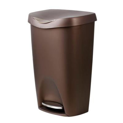 Brim 13 Gal. Plastic Touchless Waste Basket